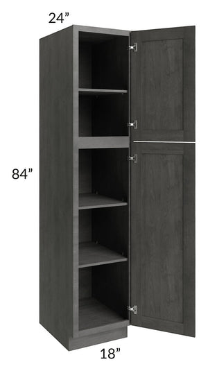 Providence Slate Grey 18x84 Wall Pantry