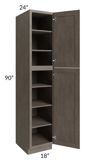 Natural Grey Shaker 18x90 Wall Pantry