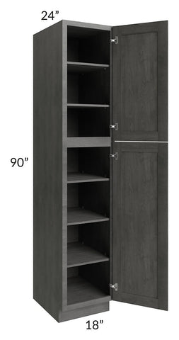 Providence Slate Grey 18x90 Wall Pantry