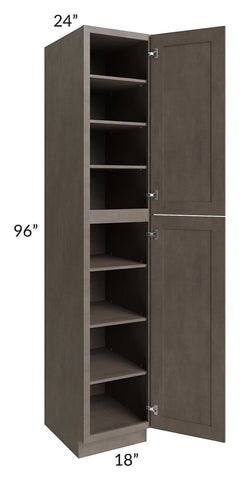 Natural Grey Shaker 18x96 Wall Pantry