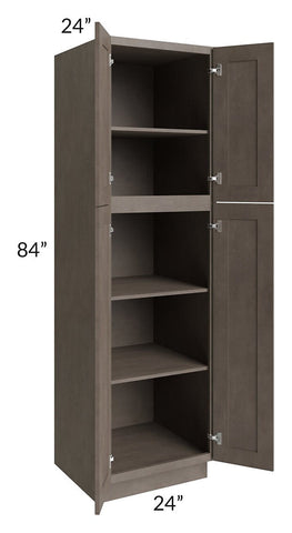Natural Grey Shaker 24x84 Wall Pantry