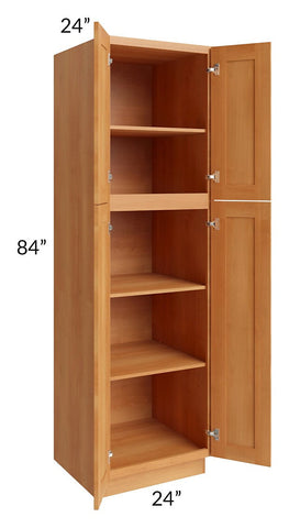 Shaker Honey 24x84 Wall Pantry
