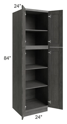 Providence Slate Grey 24x84 Wall Pantry