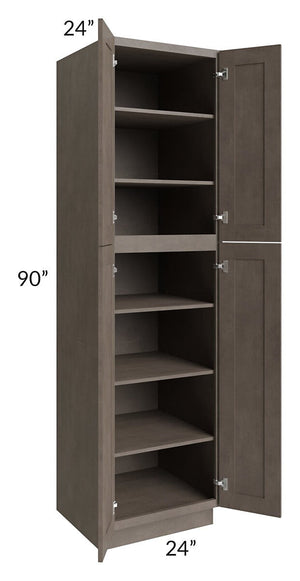 Natural Grey Shaker 24x90 Wall Pantry