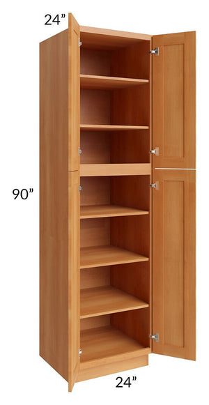 Shaker Honey 24x90 Wall Pantry