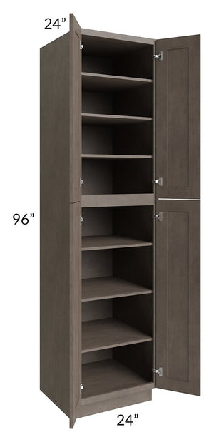 Natural Grey Shaker 24x96 Wall Pantry
