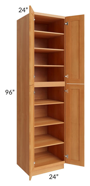 Shaker Honey 24x96 Wall Pantry