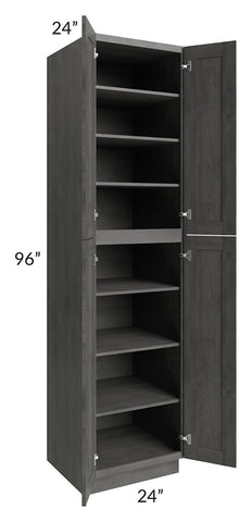 Providence Slate Grey 24x96 Wall Pantry