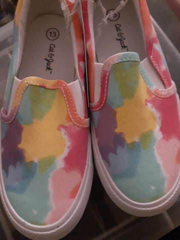"NWT ""Gracie"" Girls Slip On Sneakers"