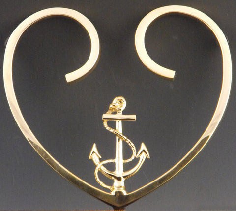 Anchor in Heart Trivet
