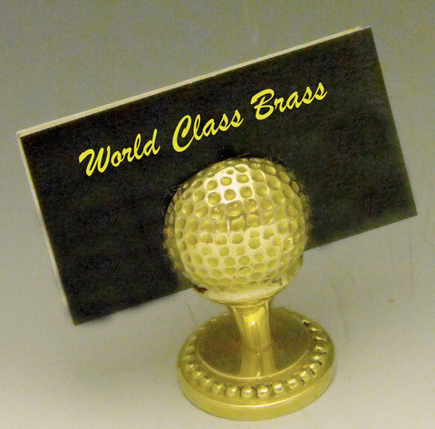 Golf Ball w/ Base Business Card Holder