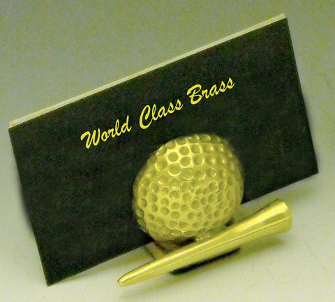 Golf Ball and Tee Business Card Holder