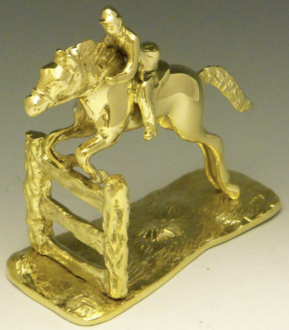 Jumping Horse and Fence Bookends