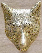 Fox Head Drawer Pull - Large