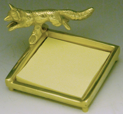 Post-It Note Holder w/ Running Fox