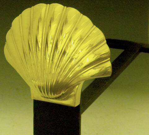 Scallop Shell Andirons