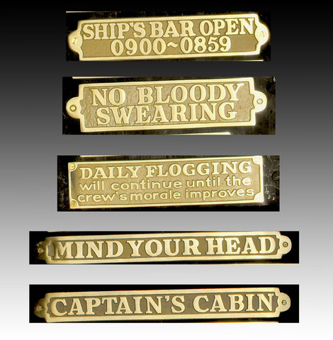 Nautical Signs - Large