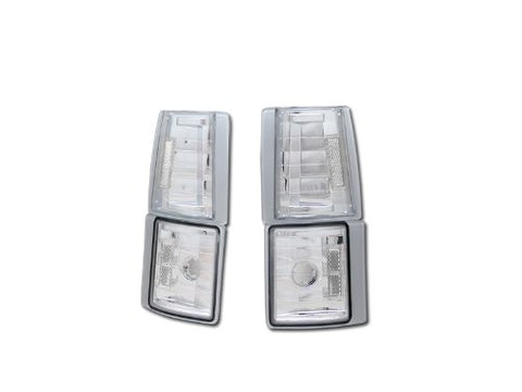 R&Amp;L Racing Chrome Clear Corner Lights Signal Parking Lamps K2 1994-2000 For Gmc C10 C/K Pickup/Suv