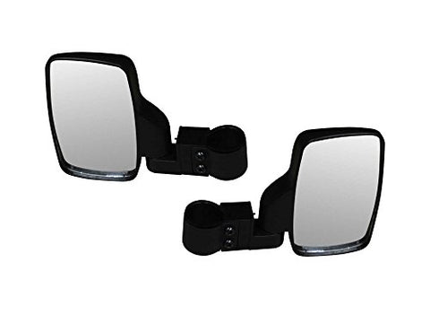 Superatv Heavy Duty Side View Mirrors For Arctic Cat Hdx, Prowler, Polaris Rzr, Ranger, Teryx 4, Rhino - (1 Pair) - Fits 1.75'' Round Roll Cages