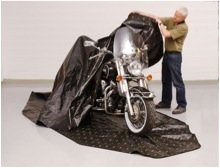 Zerust Rust Protection Motorcycle Storage Cover With Zip Closure With Corrosion Prevention And Protection - 145 In X 70 In