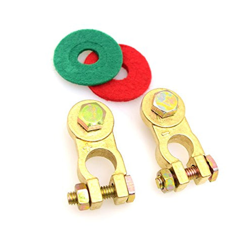 E-Kylin Heavy Duty Thickened Battery Terminal Set With Battery Corrosion Terminal Protectors 17Mm 300A Pure Copper