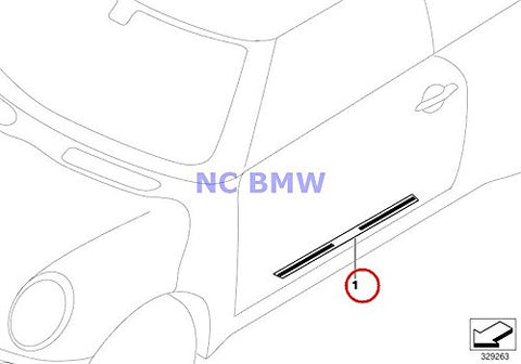 Bmw Mini Genuine Door Sill Plate - Brushed Aluminum With ''Mini Cooper S'' Cooper S Cooper S