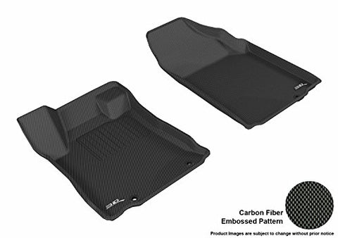 3D Maxpider L1Ns09211509 Black All-Weather Floor Mat For Select Nissan Altima Sedan Models Front Row