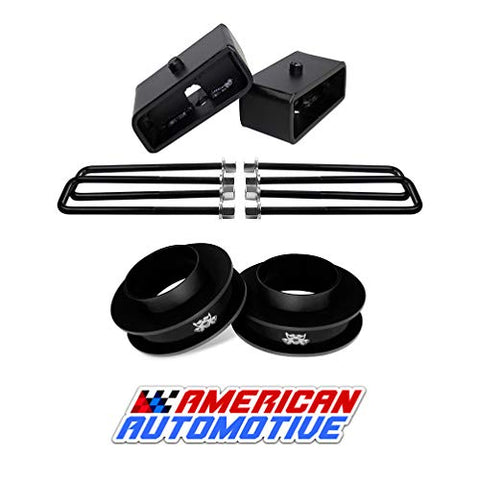 1999-2007 Silverado Sierra Lift Kit 2Wd 3  Front Spring Spacers + 1.5  Rear Blocks Made In Usa Steel Road Fury Tig Welded