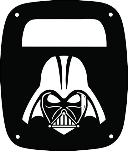 Jeeptails Star Wars Darth Vader - Jeep Yj Wrangler Tail Lamp Covers - Black - Set Of 2