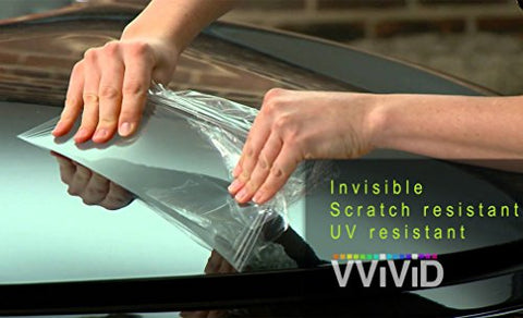 Vvivid Paint Protection Film Clear Vinyl Gloss Self Healing Wrap Guard (17.75  X 54 )