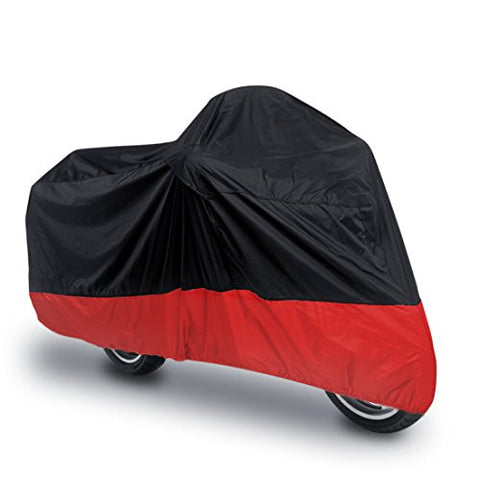 Uxcell Xxl 180T Rain Dust Motorcycle Cover Black+Red Outdoor Uv Waterproof 104  Fit To Honda Victory Kawasaki Yamaha Suzuki Harley Davidson