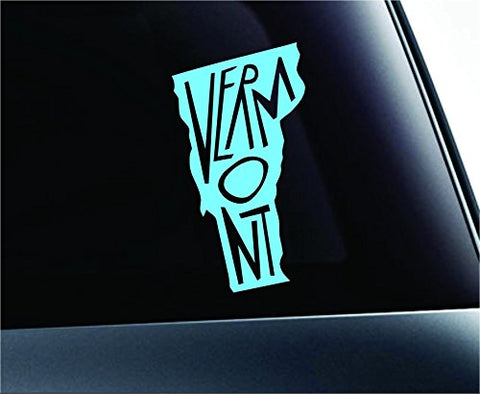 State Name Vermont Symbol Decal Funny Car Truck Sticker Window (Mint)