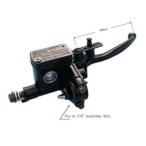 Videopup(Tm) Right Hydraulic Brake Master Cylinder Lever For Varies 4 Strokes 50Cc 70Cc 110Cc 125Cc 150Cc Atv Dirt Pit Bikes