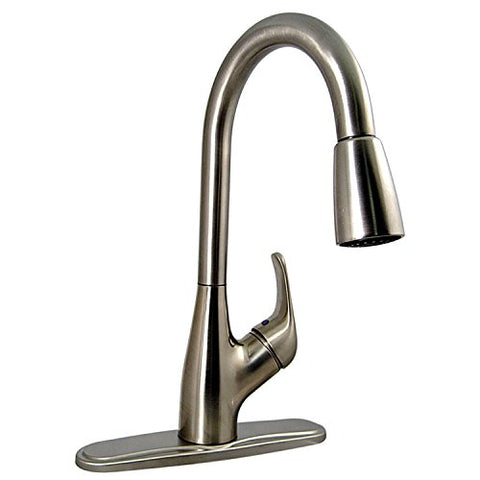 Phoenix Pf231461 Single Handle Pulldown Kitchen Faucet, Brushed Nickel