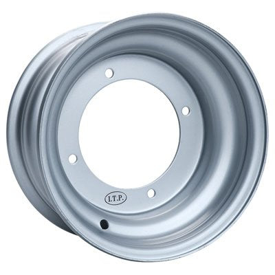 Itp Steel Wheel - 10X5 - 2+3 Offset - 4/156 - Silver , Bolt Pattern: 4/156, Rim Offset: 2+3, Wheel Rim Size: 10X5, Color: Silver, Position: Front 15R156