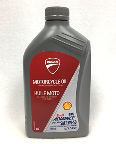 Ducati Shell Advance 15W-50 Factory Engine Oil 1 Liter 550047581