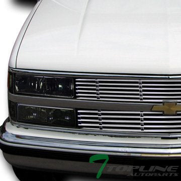 Topline Autopart Smoke Clear Lens Signal Bumper Lights Lamps Dy 88-99 Chevy Gmc C10 C/K Truck/Suv