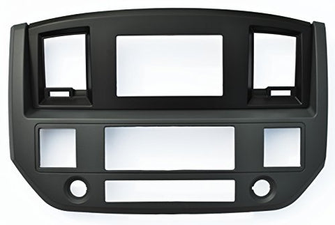 Dodge Ram Slate Grey Black And Silver Aftermarket Stereo Radio Double Din Dash Install Kit 2006 2007 2008 2009 (Standard, Black)