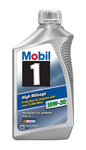 Mobil 1 98Jd37 10W-30 High Mileage Synthetic Motor Oil - 1 Quart