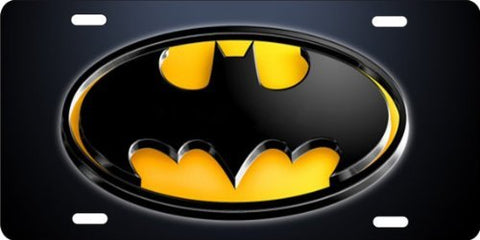 Yellow Batman License Plate Custom Made
