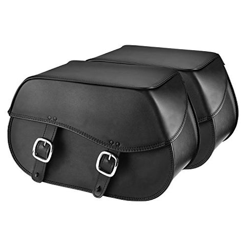 Nomad Usa Extra-Large Leather Throw-Over Motorcycle Saddlebags (Plain)