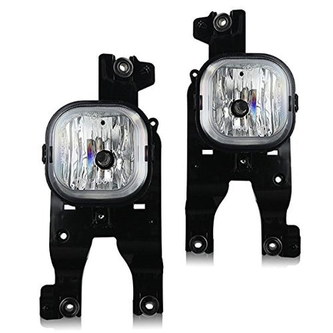 Winjet Fits 08-10 Ford F-250 F-350 F-450 Fog Lights Lamps Wiring Kit Included - Clear