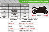Best Weather Proof All Around Universal Motorbike Cover W/Quality Heavy Duty Material, Lockholes, Wind Proof Buckles, Water Snow Resistant Fabric 4 Harley Davidson,Honda,Suzuki,Ducati,Yamaha Xxl Blk