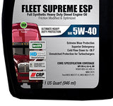 Triax Fleet Supreme Esp 5W-40 - Full Synthetic - Friction Modified - Api Ck-4/ Cj-4 Heavy Duty Diesel Engine Oil - With Crp Moly Plating Technology. 80K Miles Drain Intervals, (Case Of 12 Quarts)