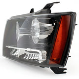 Xtune For 2007-2013 Avalanche Suburban Tahoe Black Headlights Front Lamps L+R Pair Left+Right/2008 2009 2010 2011 2012 2013