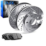 For 2011-2016 Scion Tc Rear Eline Drill Slot Brake Rotors + Ceramic Brake Pads