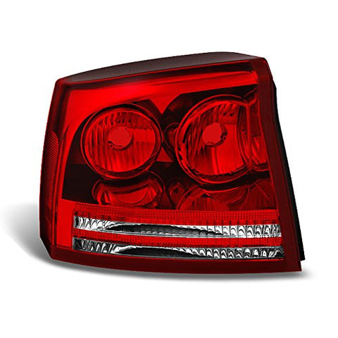 For Dodge Charger Rear Red Clear Tail Light Tail Lamp Brake Lamp Driver Left Side Replacement