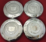 Cc25 9596649 07-12 Cadillac Escalade Set 4Pcs Chrome Crest 22  With 8  Wheel Center Caps 07 08 09 2010 2011 2012  With Retention Ring