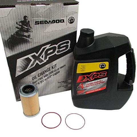 Sea-Doo Xps 4-Stroke Synthetic Blend Oil Change Kit - 1503 4-Tec P/N 295501157