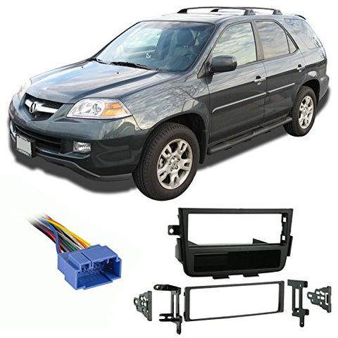 Compatible With Acura Mdx 2001-2004 Single Din Aftermarket Harness Radio Install Dash Kit